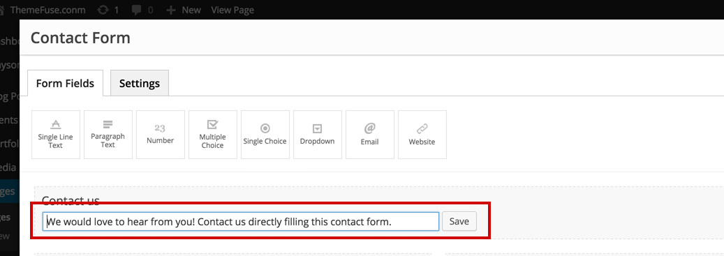 how to add fields in contact form db