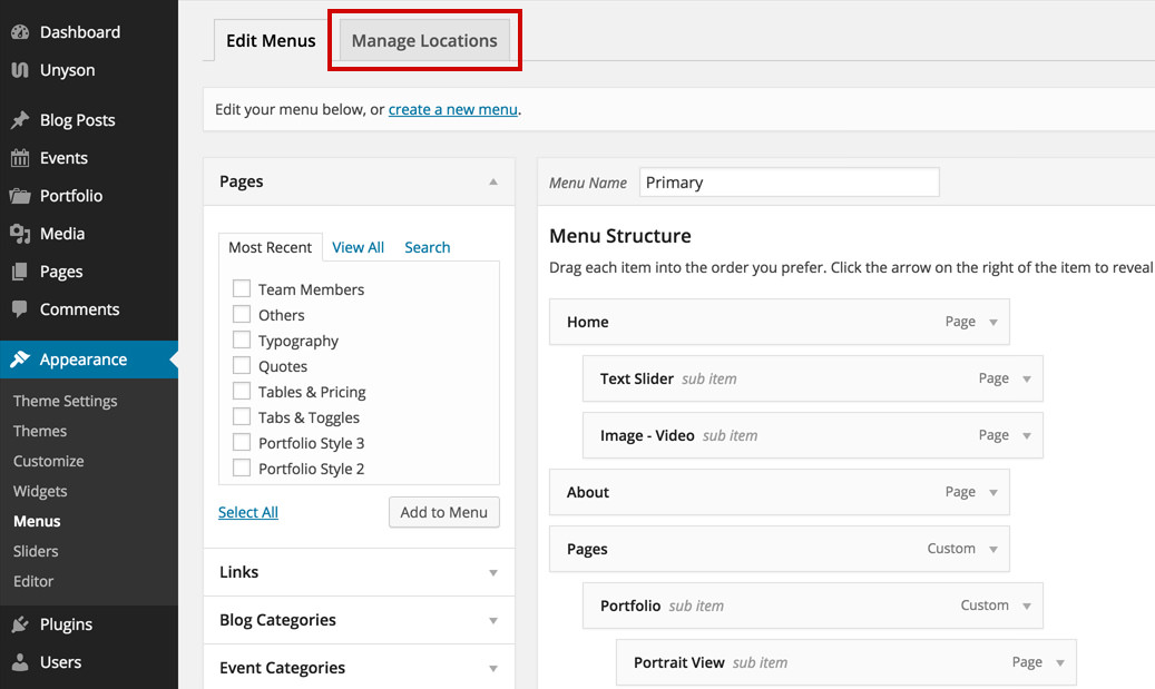 Adding A Menu To Your Website | Themefuse